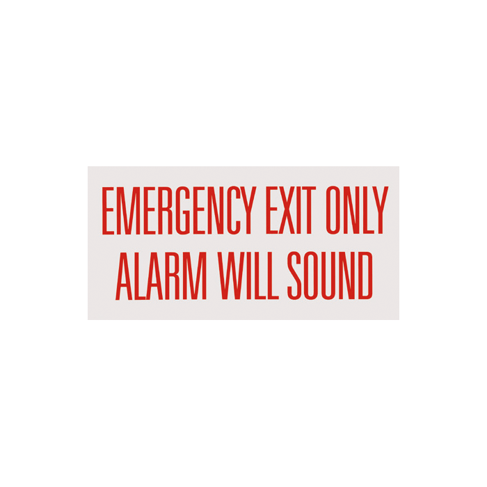 "Emergency Exit Only Alarm Will Sound 12"" x 6"""