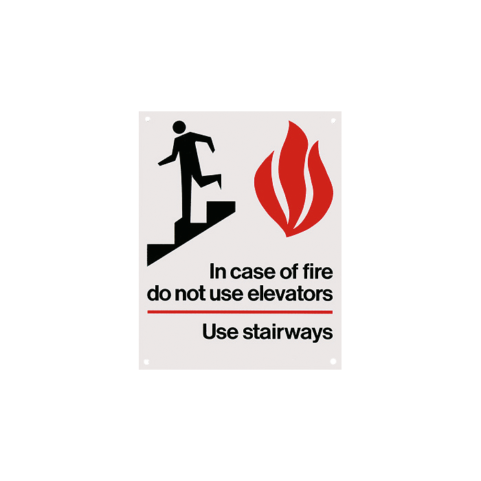 In Case of Fire…Use Stairways Sign