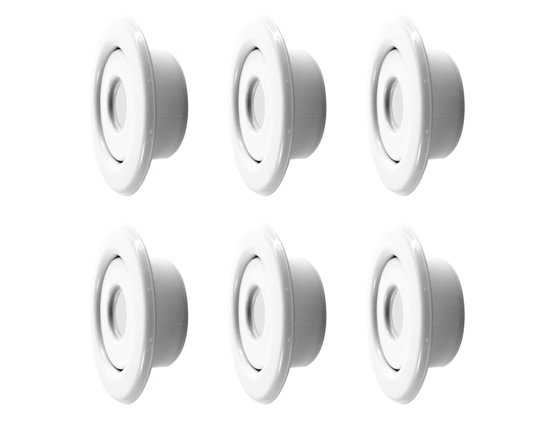 Tyco (6 pack) TFP Style 15 Fire Sprinkler Head Escutcheon Cover Plate Standard Recessed (white)
