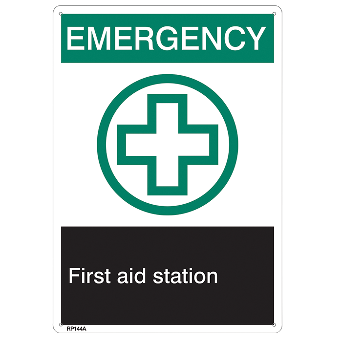Emergency, First Aid Station Sign