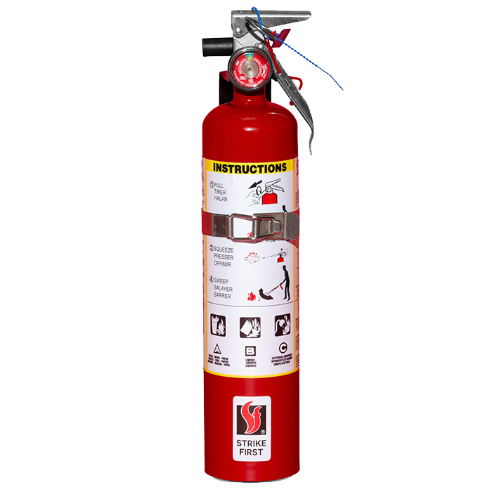 2.5 lb. Dry Chemical ABC Steel Fire Extinguisher - w/ Wall Hook