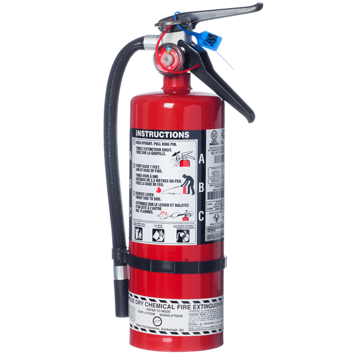 5 lb. Dry Chemical ABC Steel Fire Extinguisher - w/ Wall Hook