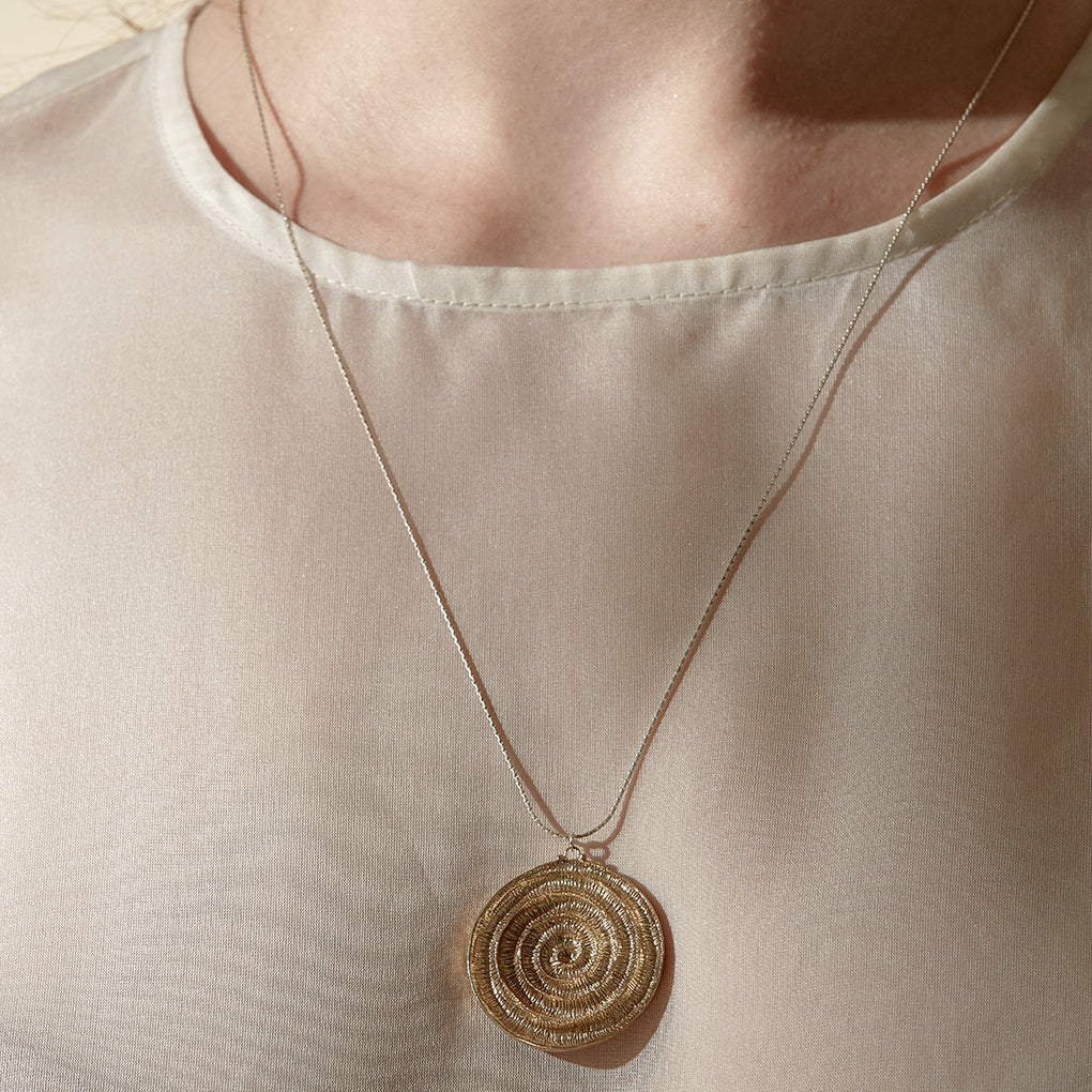 Ammonite Plaque Necklace