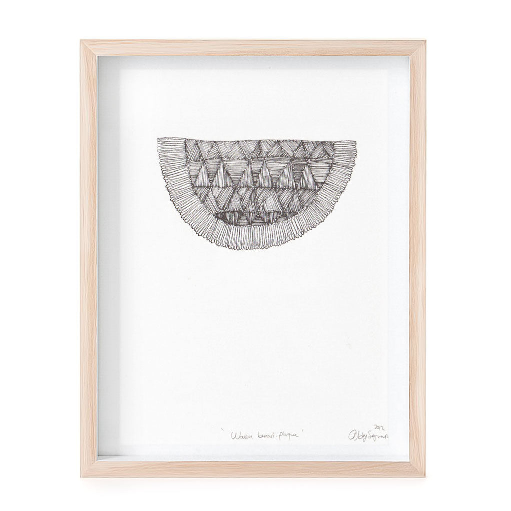 Woven Breast-plaque print