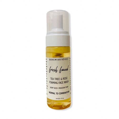 BOHEMIAN RÊVES FRESH FACED-TEA TREE & ROSE FOAMING FACE WASH SKINCARE NATURALLY NAUGHTY STORE NNSTORE HK