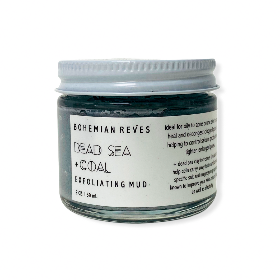 BOHEMIAN RÊVES DEAD SEA + COAL EXFOLIATING MUD MASK SKINCARE NATURALLY NAUGHTY STORE NNSTORE HK