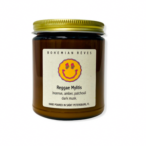 BOHEMIAN RÊVES PLANT-BASED CANDLE - REGGAE MYLITIS MIND WELLNESS NATURALLY NAUGHTY STORE NNSTORE HK