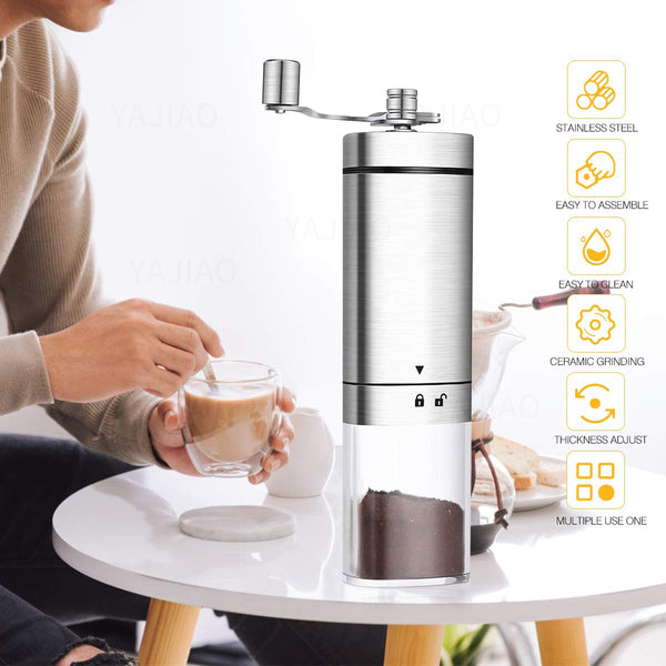PORTABLE MANUAL COFFEE GRINDER - Brown Shots Coffee
