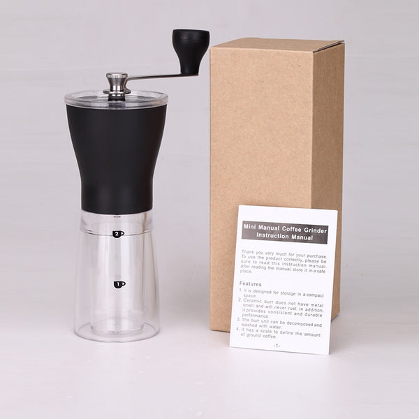 MINI MANUAL COFFEE GRINDER - Brown Shots Coffee