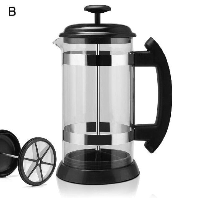 French Press Coffee/Tea Brewer Coffee Pot - Brown Shots Coffee