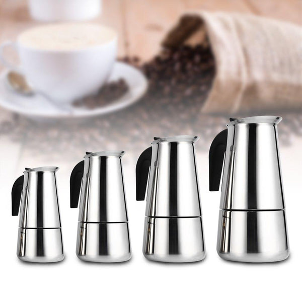 Stainless Steel Coffee Pot - Brown Shots Coffee