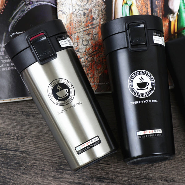 SLIM STRAIGHT COFFEE FLASK - Brown Shots Coffee