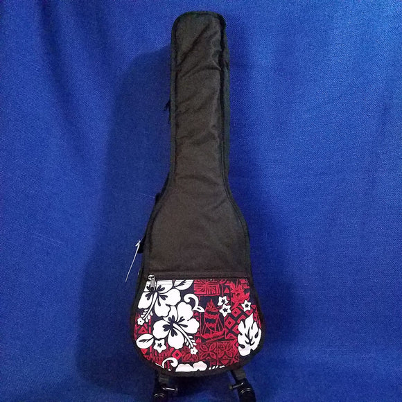 Ohana Tenor Ukulele Gig Bag Red Hibiscus Hawaiian Print UB-27RD Accessory