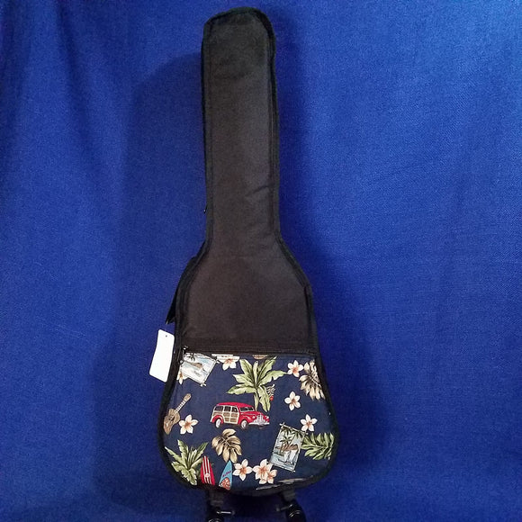 Ohana Baritone Ukulele Gig Bag Surf Theme Hawaiian Print UB-31SF Accessory