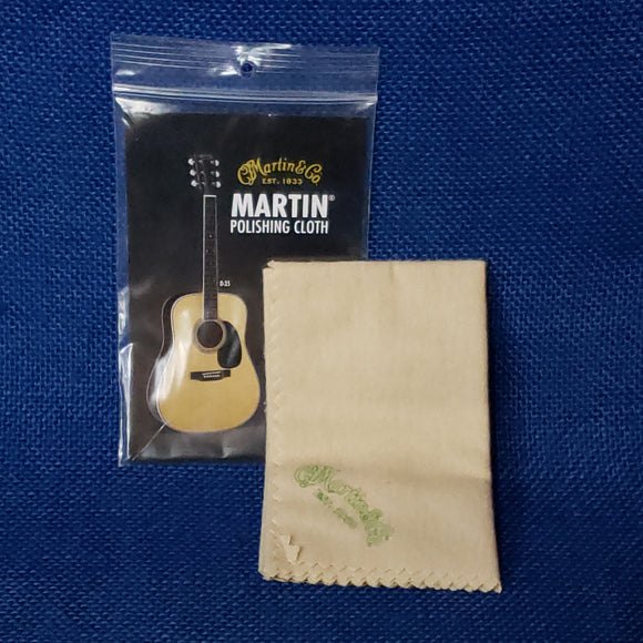 Martin & Co. Polishing Cloth Tan w/ Logo - Ukulele Accessory