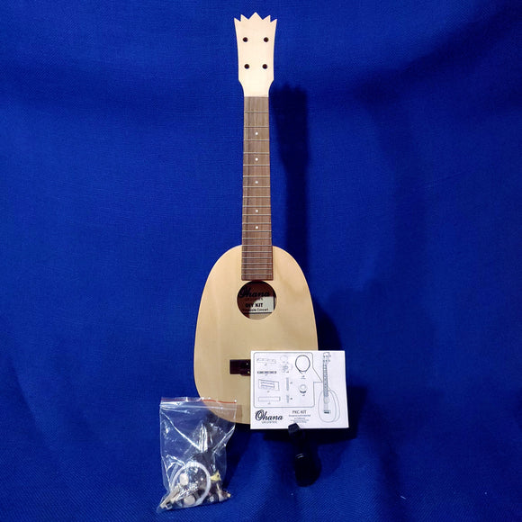 Ohana Concert Pineapple PKC-KIT DIY Kit Laminate Mahogany Do It Yourself Paintable Ukulele