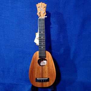 KoAloha Super Soprano Pineapple Long Neck All Solid Koa KSM-03 Made in Hawaii Ukulele w/ Case U804