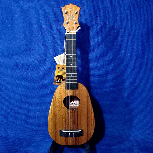 KoAloha Soprano Pineapple Solid Koa KSM-01 Made in Hawaii Ukulele Hardcase U806