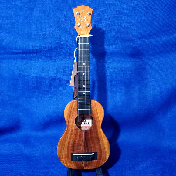KoAloha Super Soprano Long Neck Solid Koa KSM-02 Made in Hawaii Ukulele w/ Hardcase U951