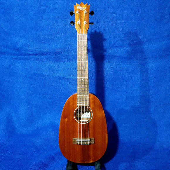 Ohana Concert Pineapple PKC-25G All Solid Mahogany Gloss Ukulele i009