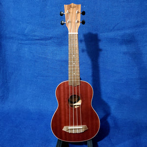 Flight Soprano NUS380 Coral Red Laminate African Sapele Ukulele w/ Bag i091