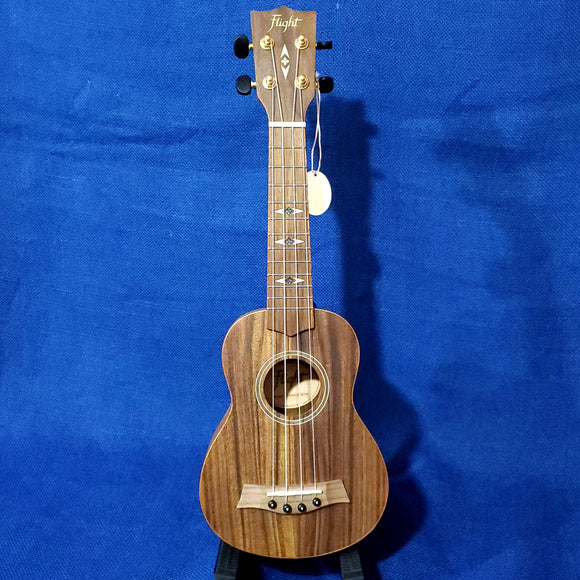 Flight Soprano DUS460 Laminate Acacia Ukulele w/ Bag i101