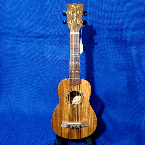 Flight Soprano DUS445 Laminate Acacia Gloss Ukulele w/ Bag i106