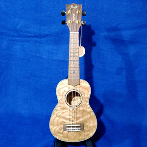 Flight Soprano DUS410 Laminate Quilted Ash Ukulele w/ Bag i108