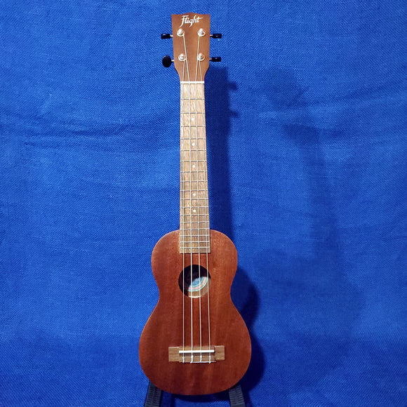 Flight Super Soprano Long Neck LUS-5 All Solid Mahogany Vintage Style Ukulele w/ Bag i113