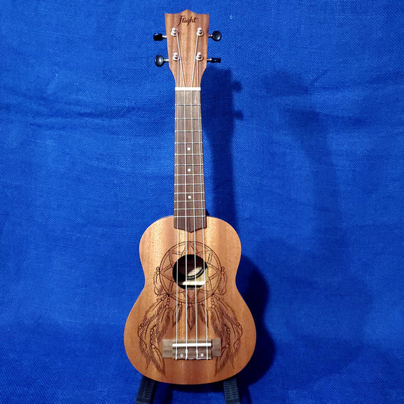 Flight Soprano NUS350 DC Dreamcatcher Laminate Mahogany Ukulele w/ Bag i115