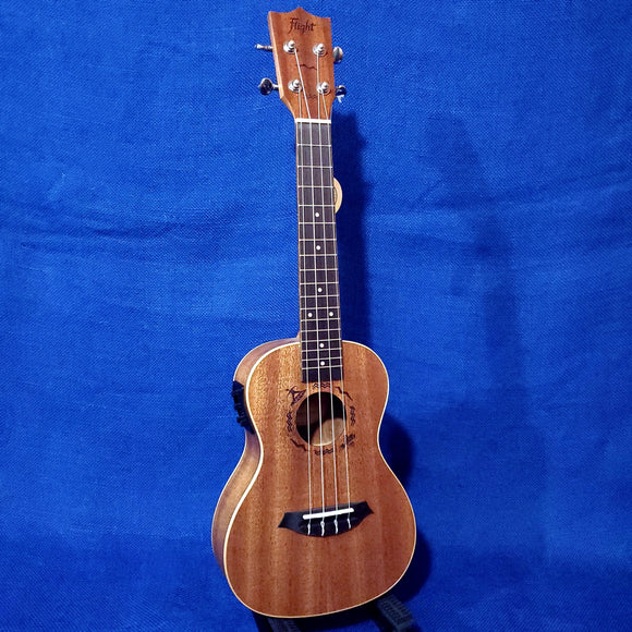Flight Concert DUC323 EQ Laminate Mahogany A/E Ukulele w/ Bag i127