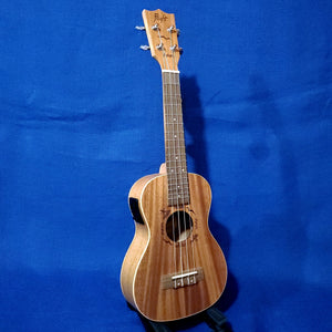 Flight Concert DUC523 EQ Solid Top Mahogany / Laminate Back and Sides A/E Ukulele w/ Bag i161