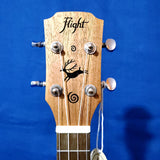 Flight Tenor DUT34 EQ Laminate Mahogany A/E Ukulele w/ Bag i163