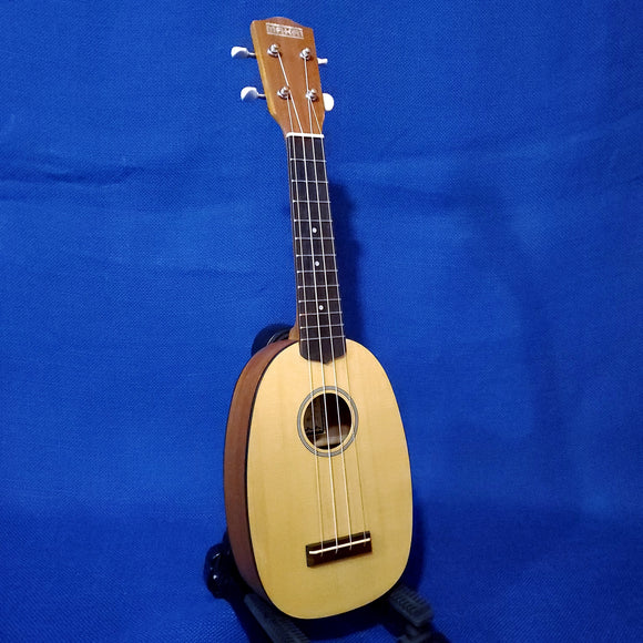 Makai Soprano Pineapple MP-71 Solid Spruce Top/ Laminate Mahogany Matte Ukulele i183