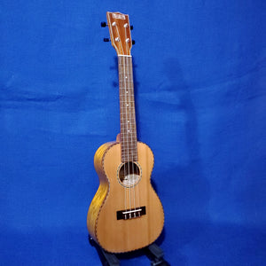 Makai Concert LC-80W Solid Cedar Top / Laminate Willow Ukulele i201