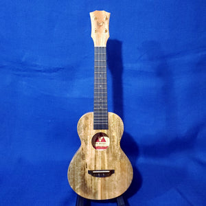 The Rebel Concert Slimline Creme Brulee All Solid Mango Ukulele w/ Bag i283