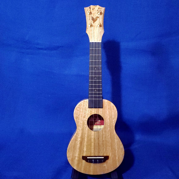 The Rebel Soprano Double Creme Brulee All Solid Mango Ukulele w/ Bag i300