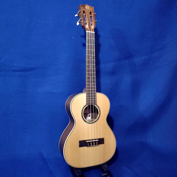 Ohana Tenor TK-70W Blem Solid Spruce Top / Laminate Walnut Slotted Headstock Ukulele i341