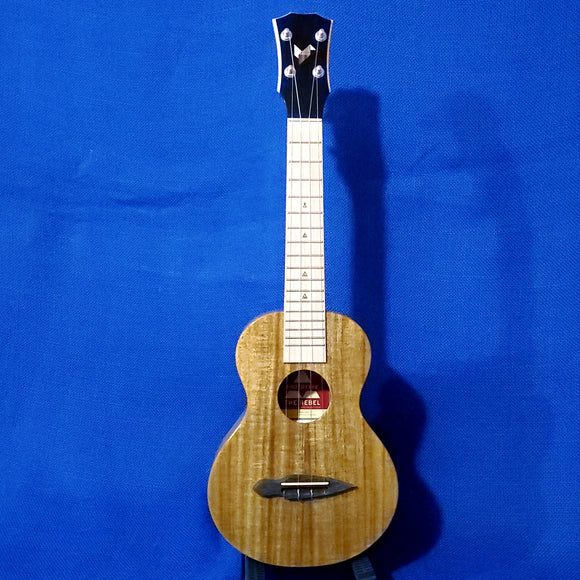 The Rebel Concert Prototype All Solid Acacia with Maple Fretboard Ukulele w/ Bag i477