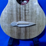The Rebel Long Neck Concert Prototype All Solid Acacia with Maple Fretboard Ukulele w/ Bag i479