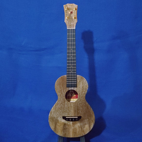 The Rebel Concert Double Creme Brulee Matte Finish All Solid Mango Ukulele w/ Bag i524