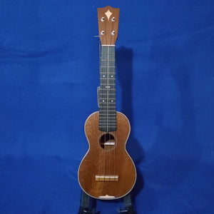 "Martin Custom Shop Soprano Style 3 ""Modern Vintage"" Model All Solid Sinker Mahogany / Maple Accents / Bowtie Inlay Made in America Ukulele w/ Case i350"