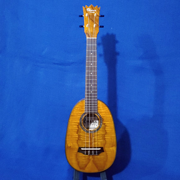 Ohana Concert Pineapple PKC-150SMP Laminate Spalted Maple Setup Ukulele i673