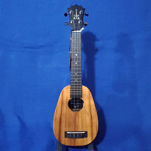KoAloha Super Soprano Pineapple Silver 25th Anniversary All Solid Koa KSM-03 Serial #007 Ukulele i733
