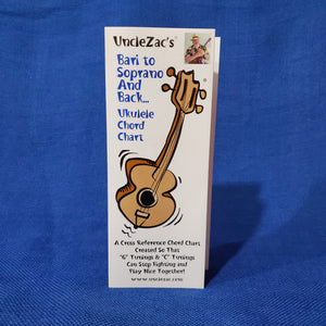 Ukulele Chord Chart:  Uncle Zac's Bari to Soprano and Back