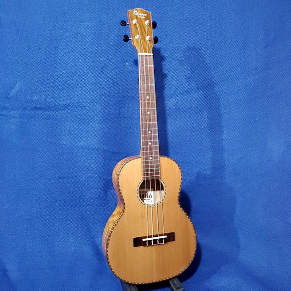 Ohana Tenor TK-50WG Solid Cedar Top / Laminate Willow Gloss Ukulele i873