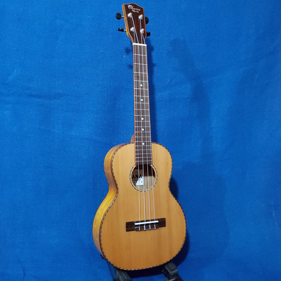 Ohana Tenor TK-50WG Blem Solid Cedar Top / Laminate Willow Gloss Ukulele i873