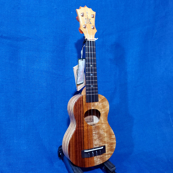 KoAloha Soprano Naupaka All Solid Koa & Mango KSNP-00 Gloss Made in Hawaii Ukulele w/Hardcase -024