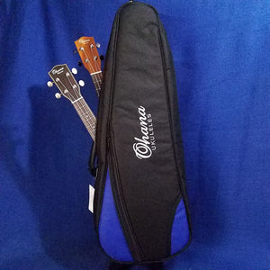 Ohana Double Tenor Ukulele 2 Uke Gigbag Black & Blue DB2-27BL Accessory