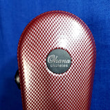 Ohana Tenor Ukulele ABS Hard Case Checkered Red Molded Plastic UCA-27CR